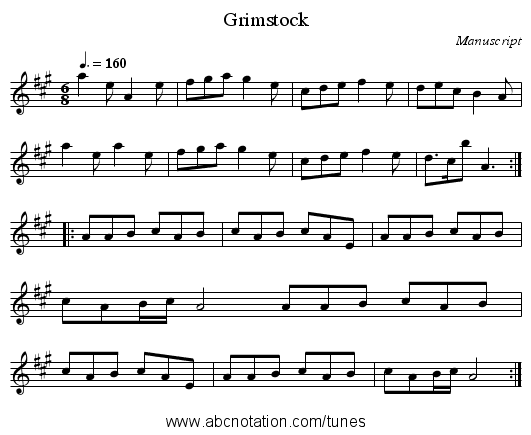 Grimstock - staff notation