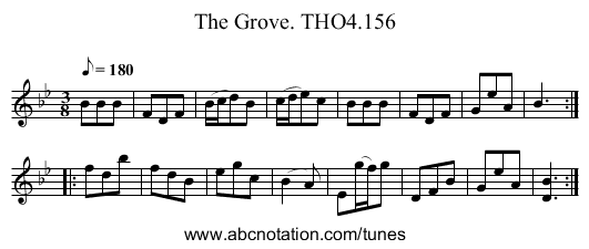 Grove. THO4.156, The - staff notation