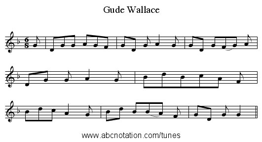 Gude Wallace - staff notation