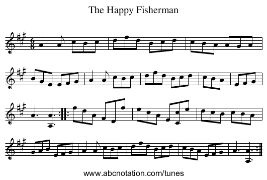 Happy Fisherman, The - staff notation