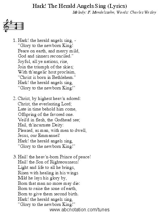 abc | Hark! The Herald Angels Sing (Lyrics) - trillian.mit.edu/~jc/music/abc/mirror/mindspring ...