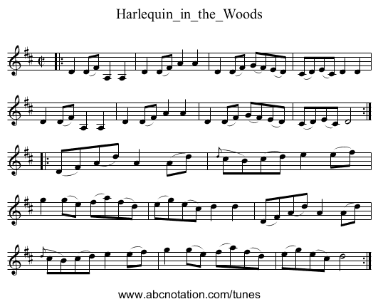 Harlequin_in_the_Woods - staff notation