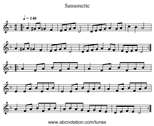 Harvest Home Hornpipe (Craig 8) - staff notation