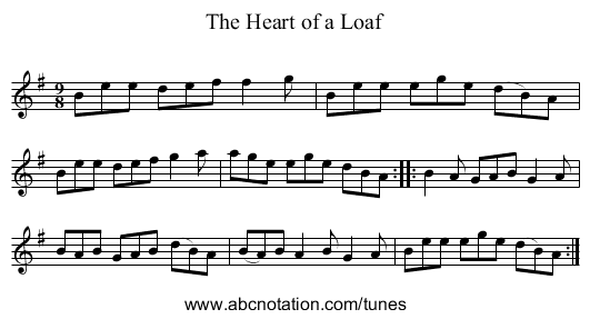 Heart of a Loaf, The - staff notation
