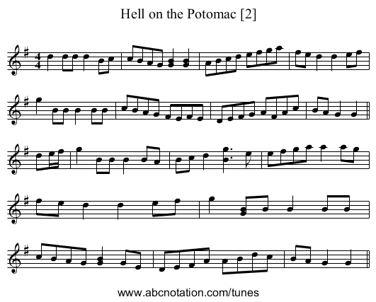 Hell on the Potomac [2] - staff notation