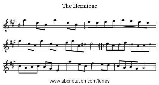 Hermione, The - staff notation