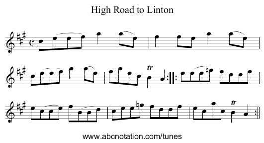 High Road to Linton, The - staff notation