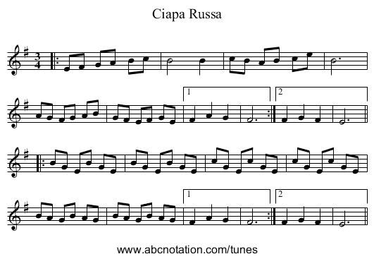 Hill's Hornpipe (Craig 35) - staff notation