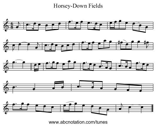 Horsey-Down Fields - staff notation