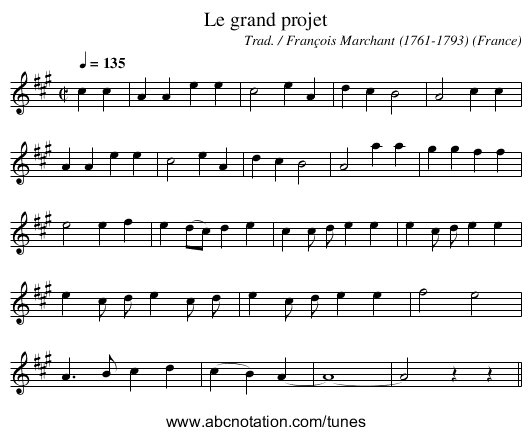 Le grand projet - staff notation