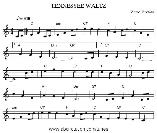 Tennessee Waltz Gatrillianmitjcmusicabcmirrorco Mandotableditabc0116