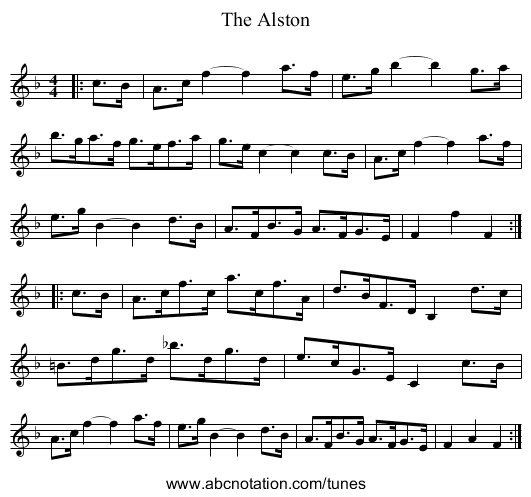 The Alston - staff notation