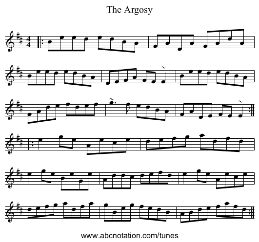 The Argosy - staff notation