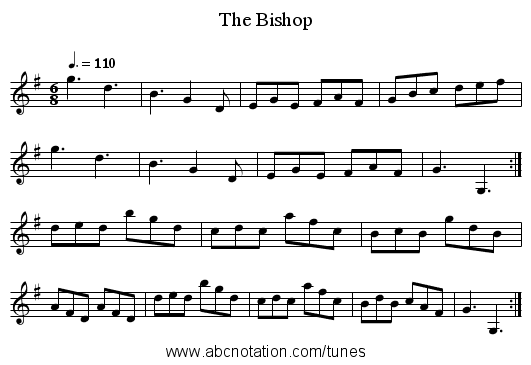 The Bishop - staff notation