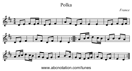 the British March - staff notation