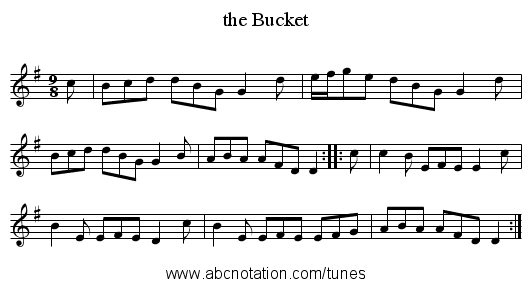 the Bucket - staff notation