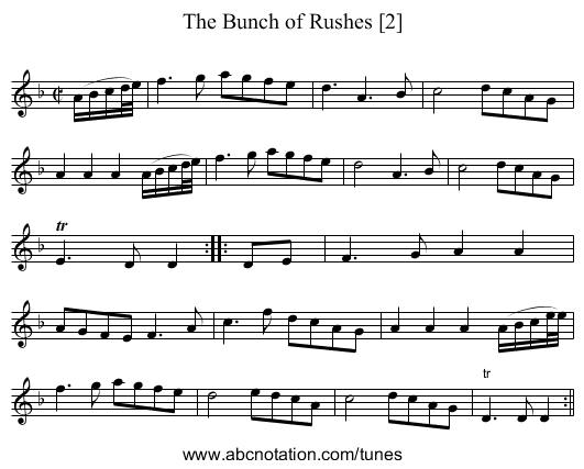 The Bunch of Rushes [2] - staff notation