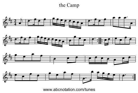 the Camp - staff notation