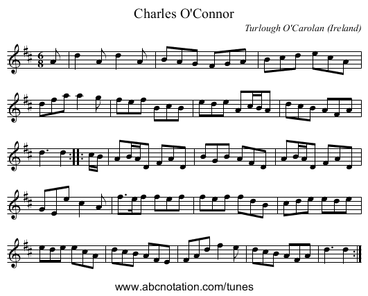 the Capuchin - staff notation