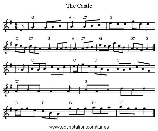 The Castle - staff notation