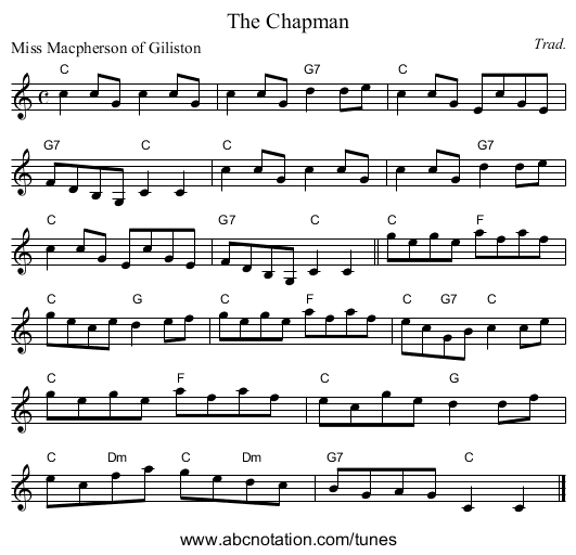 The Chapman - staff notation