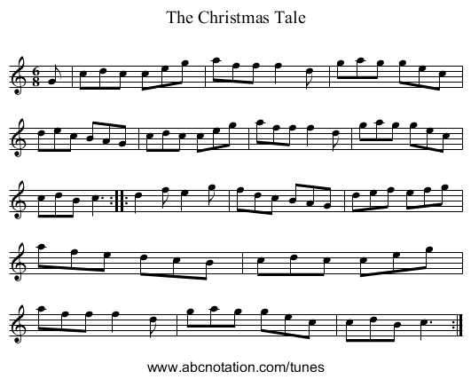 The Christmas Tale - staff notation
