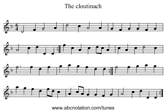 The cloutinach - staff notation