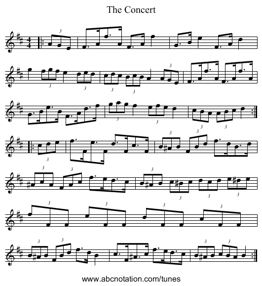 The Concert - staff notation