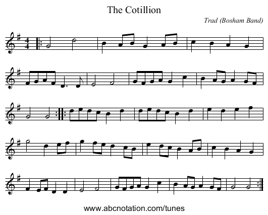 The Cotillion - staff notation