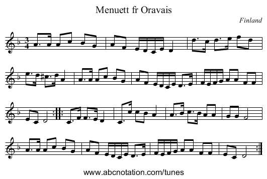 the Cottage - staff notation