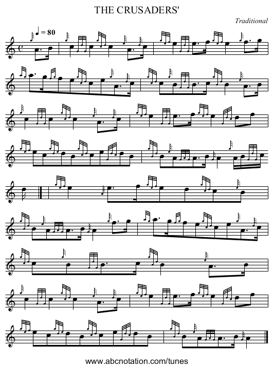 THE CRUSADERS' - staff notation