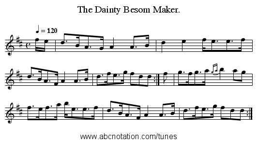 The Dainty Besom Maker. - staff notation