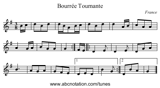the Derry Hornpipe - staff notation