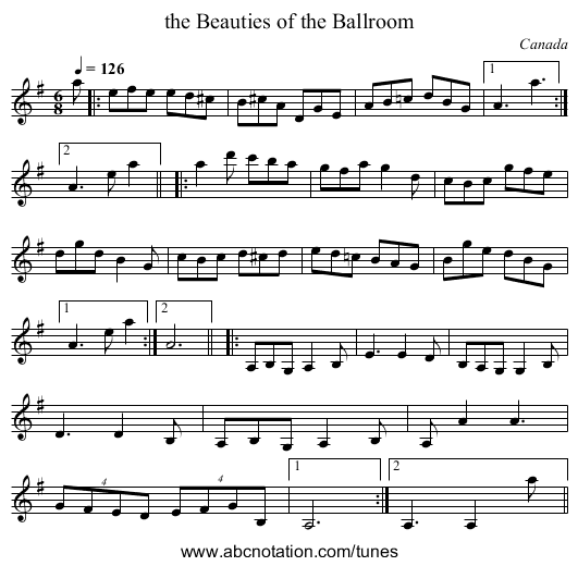 the Devil's Dead - staff notation