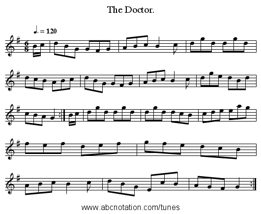 The Doctor. - staff notation
