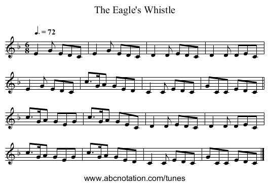 The Eagle's Whistle - staff notation