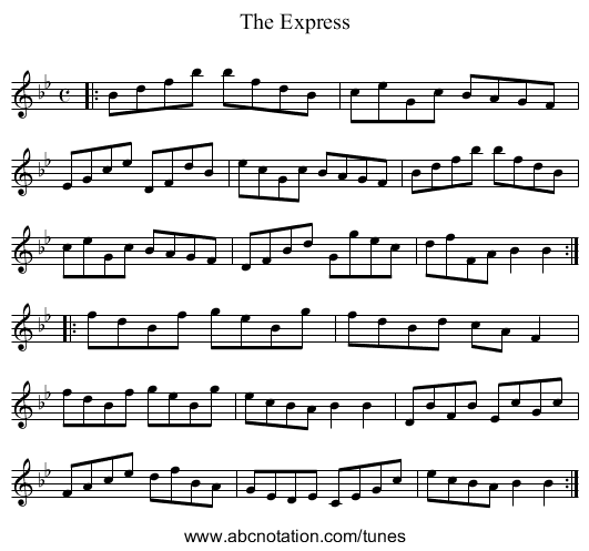 The Express - staff notation