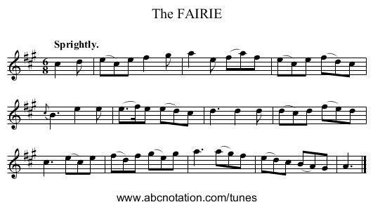 The FAIRIE - staff notation