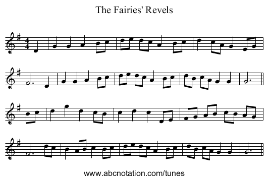 The Fairies' Revels March - staff notation