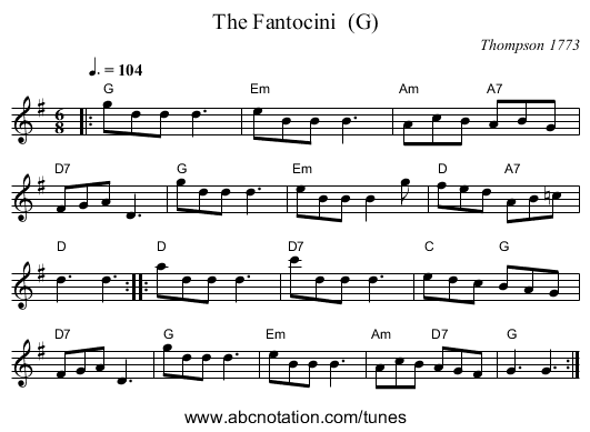 The Fantocini  (G) - staff notation