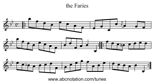 the Faries - staff notation