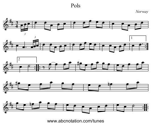 the First of August - staff notation