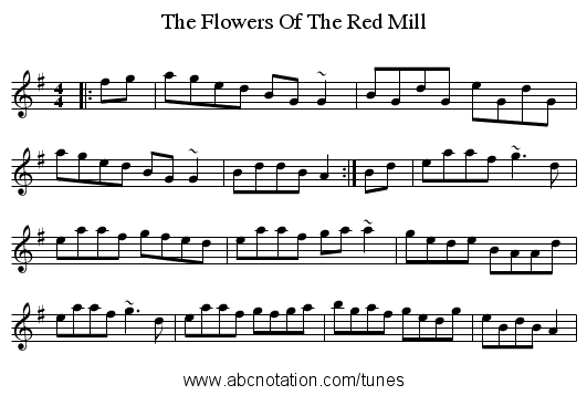 The Flowers Of The Red Mill - staff notation
