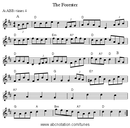 The Forester - staff notation