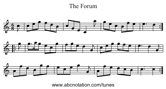 The Forum - staff notation