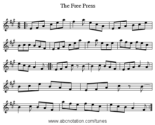 The Free Press - staff notation