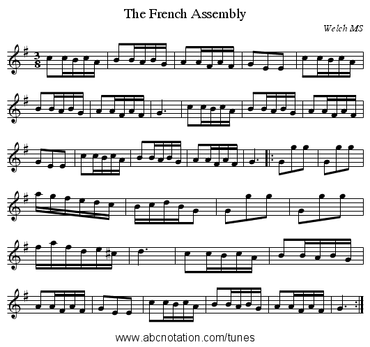 The French Assembly - staff notation