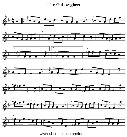 The Gallowglass - staff notation