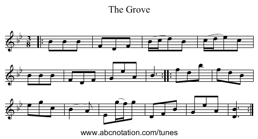 The Grove - staff notation