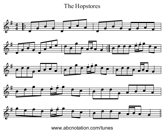 The Hopstores - staff notation